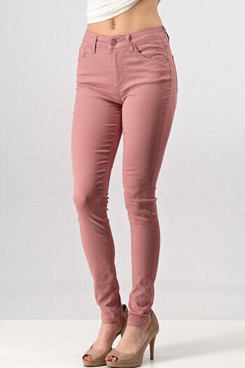 HIGH RISE SKINNY JEANS WITH POCKETS
