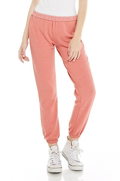 Brushed French Terry Lounge Jogger Sweatpant-Light Rust