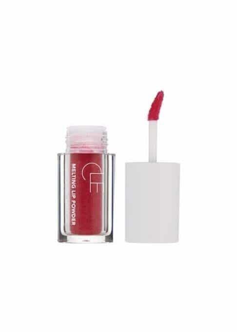 melting lip powder red cherry applicator