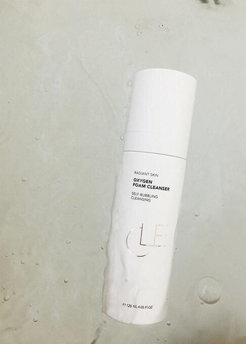 oxygen foam cleanser in water