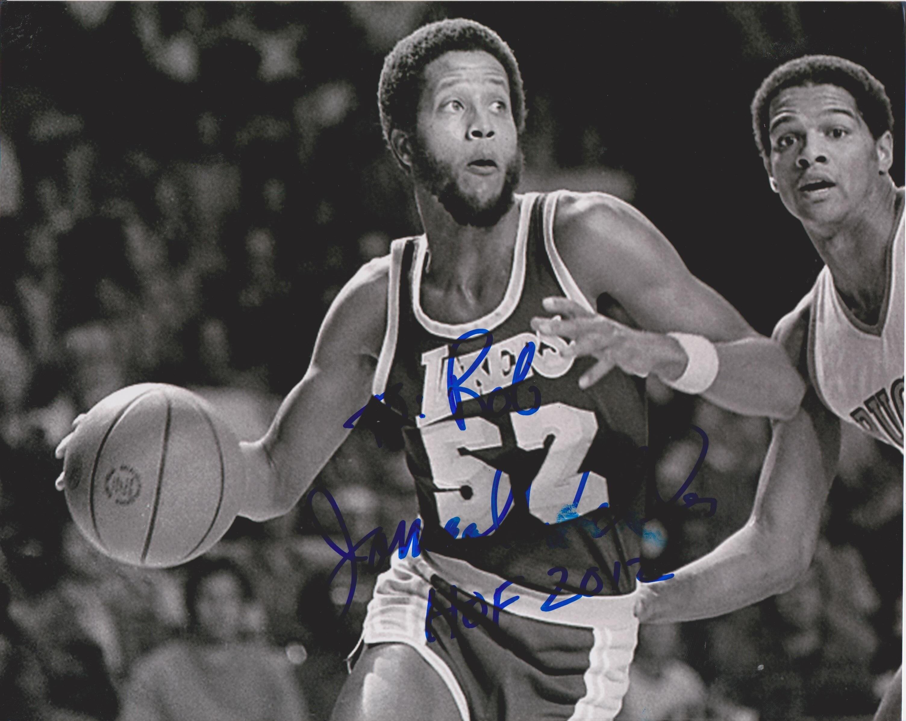 5bf0ee9db2a Jamaal Wilkes Lakers (Signature personalized to Rob)