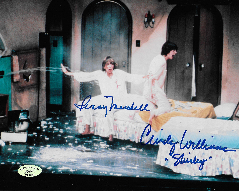 Cindy Williams & Penny Marshall Laverne & Shirley w/ Ed Richard COA 8