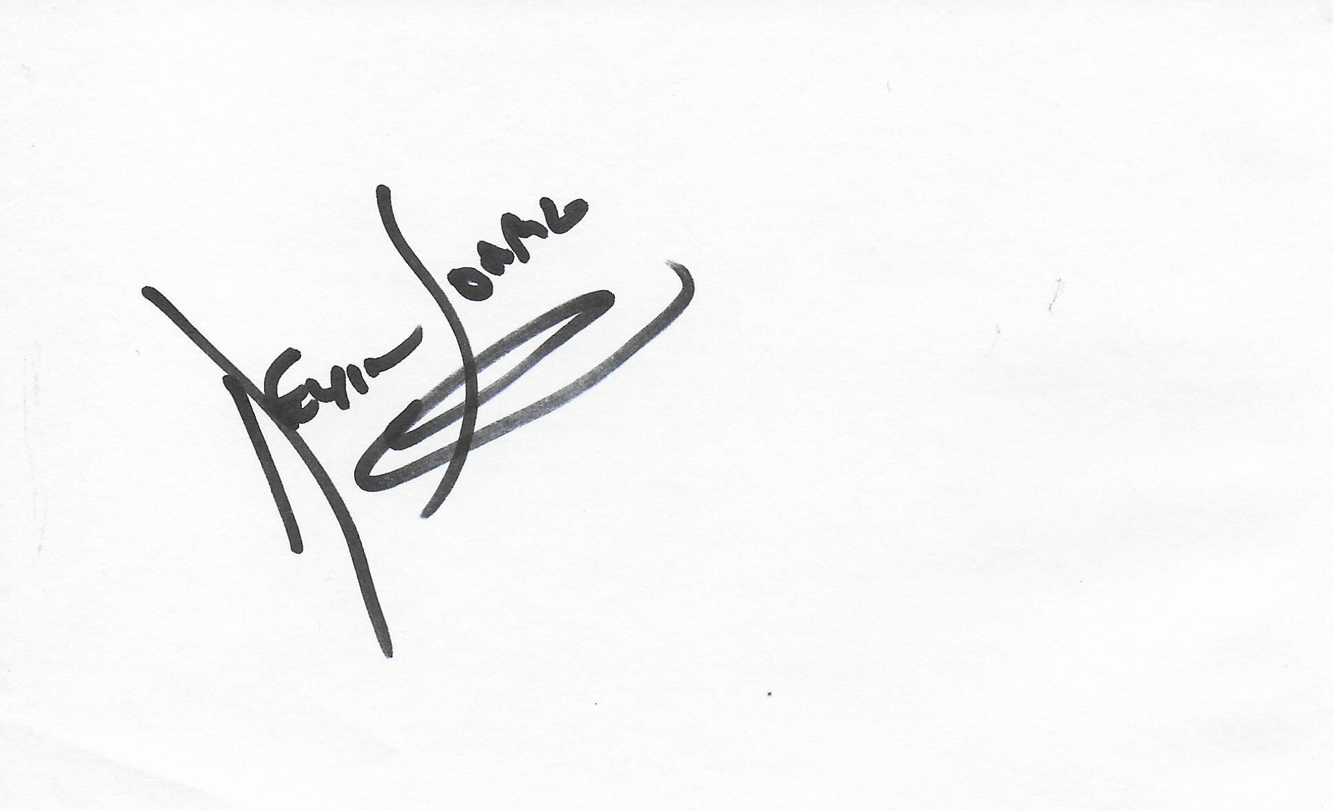 Kevin Sorbo Hercules signed album page/card