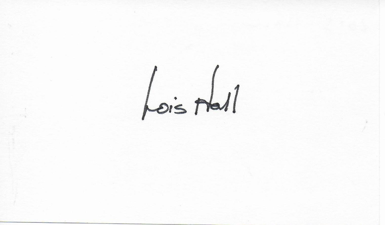 Lois Hall signed album page/card