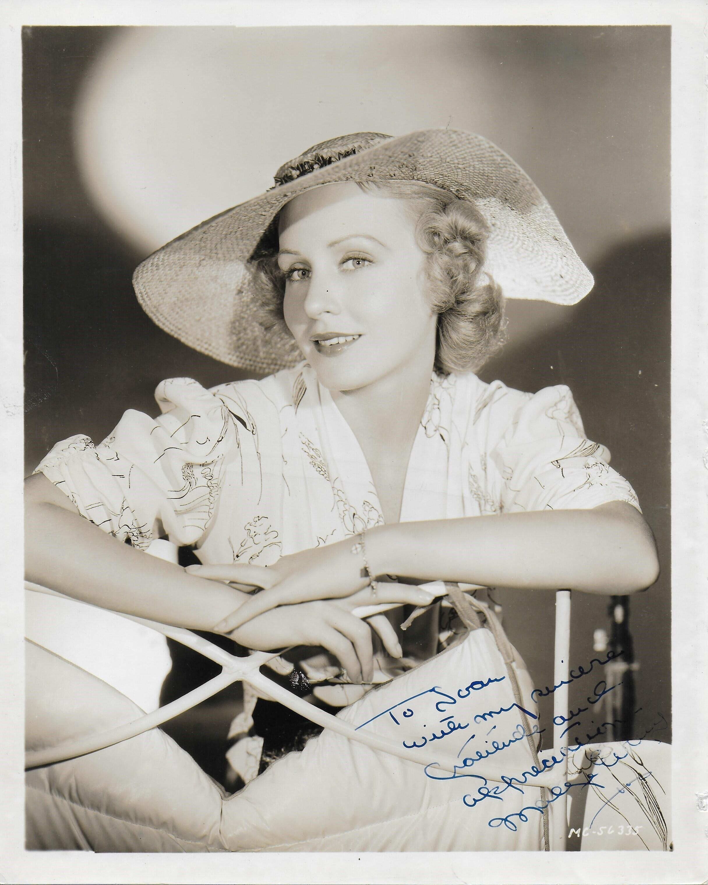 Madge Evans Vintage 8X10 photo (personalized to Joan)