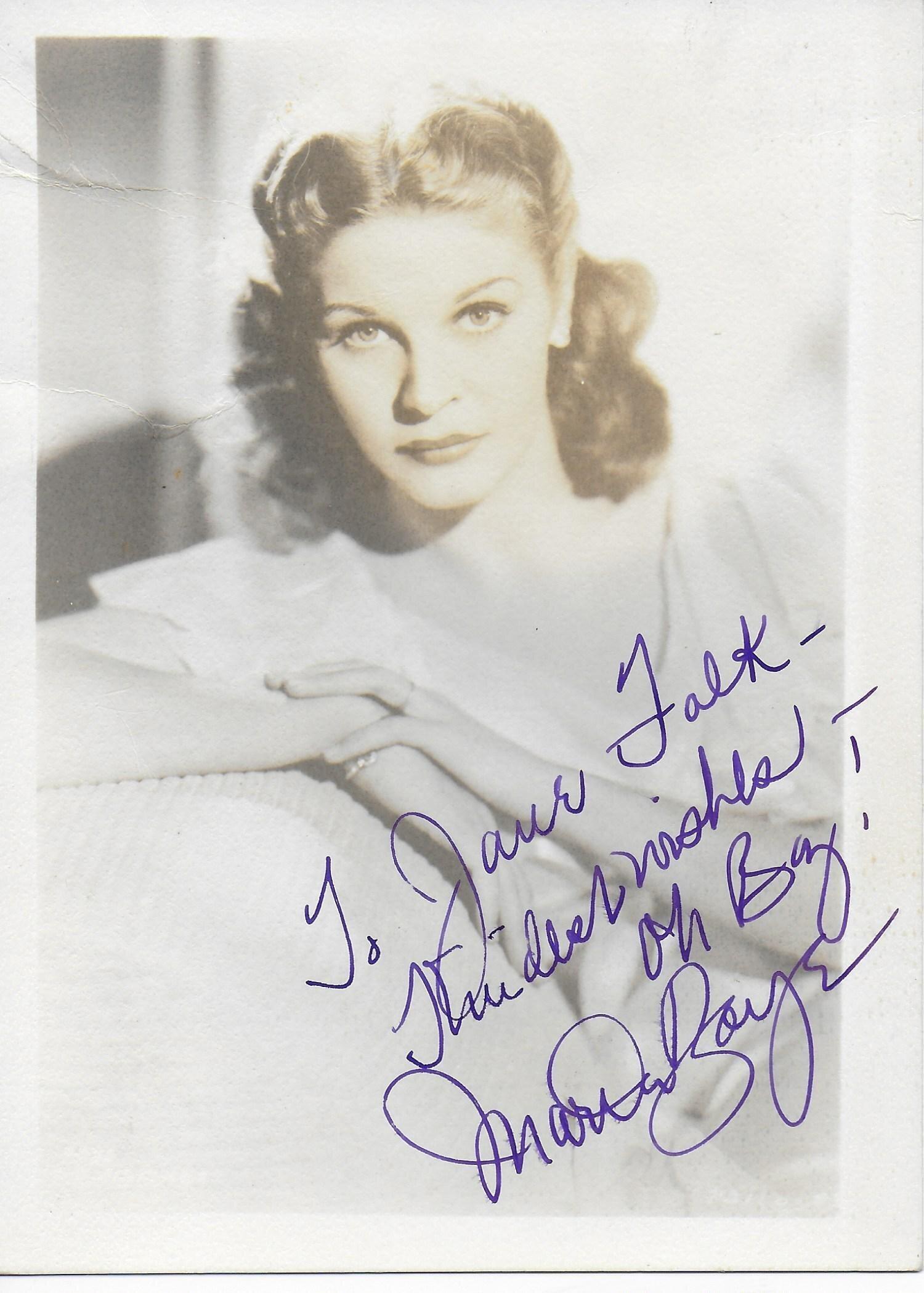Martha Raye Vintage photo personalized to Jane Falk (approx. 3X5)