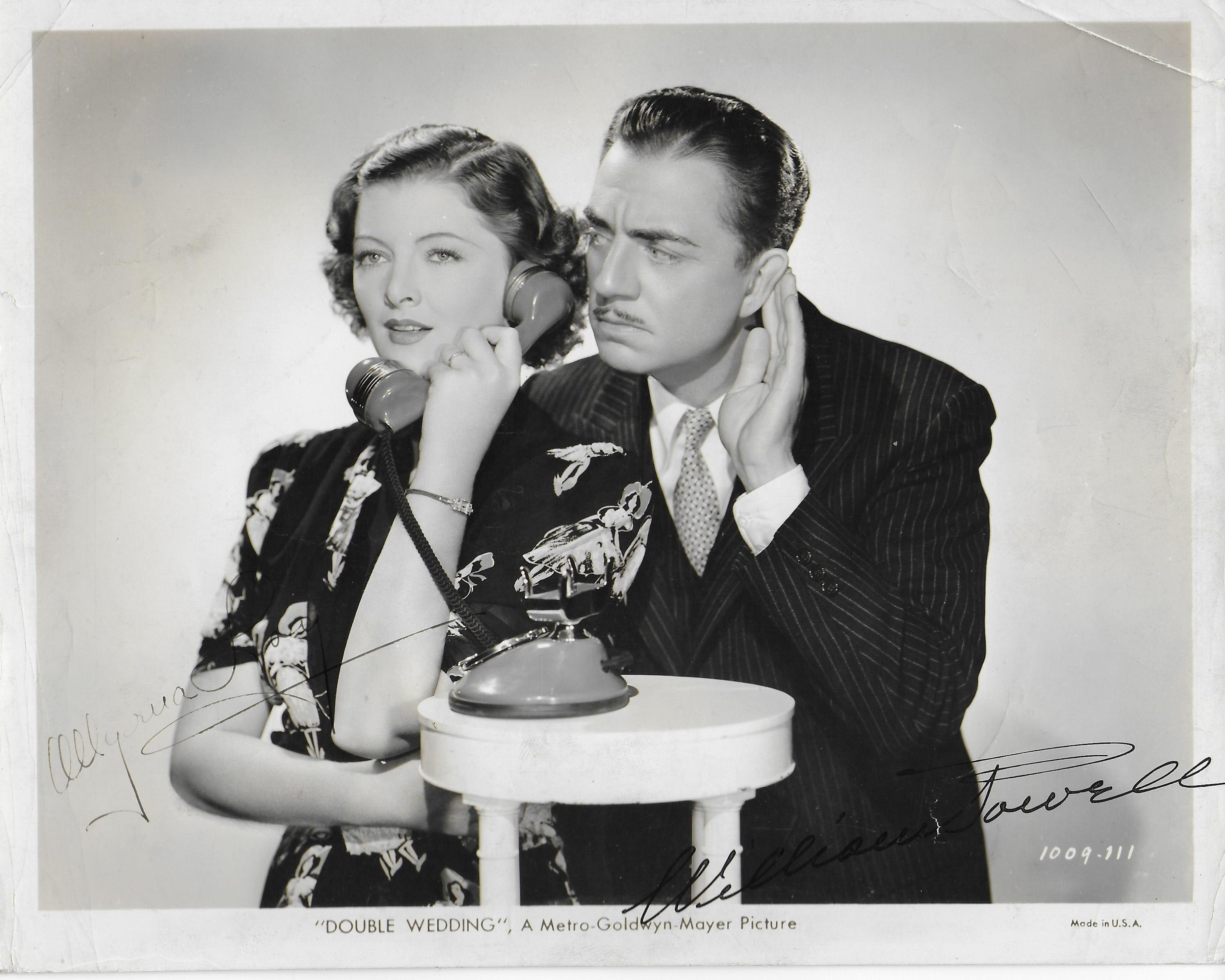 Myrna Loy & William Powell Vintage 8X10 photo