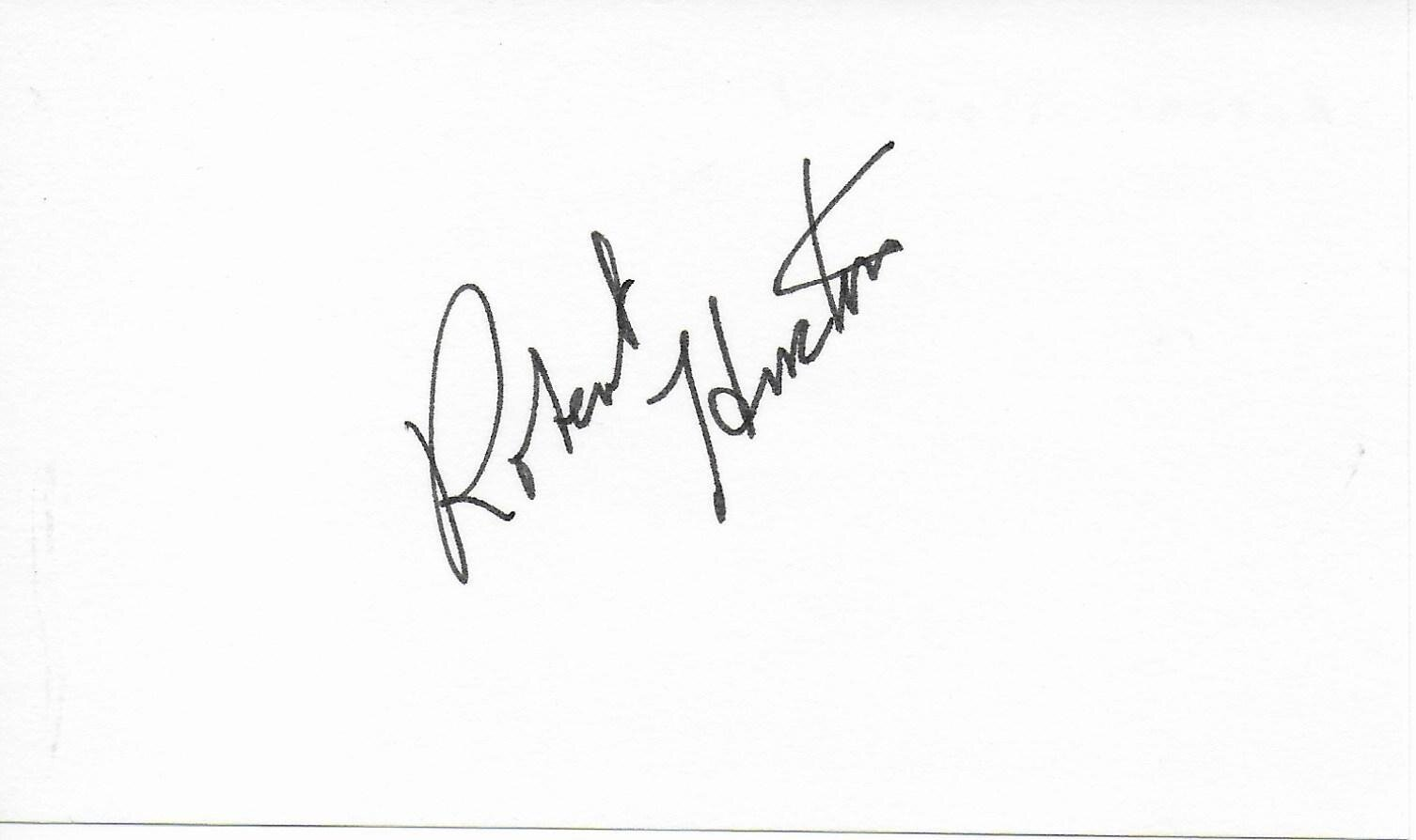 Robert Horton signed album page/card