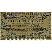 Willy Wonka cast of 6 Golden Ticket  with gene Wilder Llast one