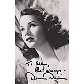 Deanna Durbin signed in person 3X5 photo