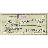 Esther Rolle signed cancelled check