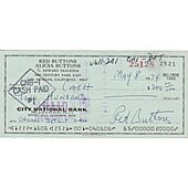 Red Buttons signed cancelled check