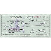 Red Buttons signed cancelled check #2
