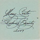 Mary Costa Sleeping Beauty signed in person 2X4 index card