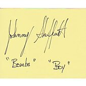 Johnny Sheffield signed in person 2X4 index card