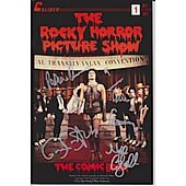 Rocky Horror Comic Book signed by Tim Curry, Patricia Quinn, Nell Campbell, and Barry Bostwick