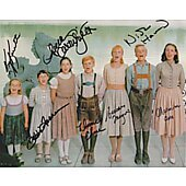 Sound Of Music exclusive 11x14 cast photo signed by 7