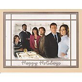 Bones holiday greeting card signed by Emily Deschanel, David Boreanaz, T.J. Thyne, Eric Millegan + 1