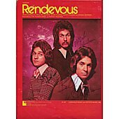 """""""Rendevous"""" original sheet music signed by all 3 Hudson Brothers"""