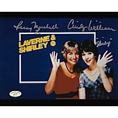 Cindy Williams & Penny Marshall Laverne & Shirley w/ Ed Richard COA 5