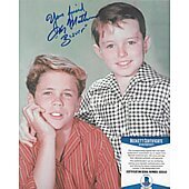 Jerry Mathers Leave it to Beaver 8X10 w/ Beckett COA