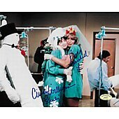 Cindy Williams & Penny Marshall Laverne & Shirley w/ Ed Richard COA 7
