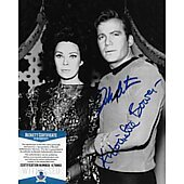 William Shatner & Antoinette Bower Star Trek TOS 8X10 w/Beckett COA