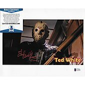Ted White Friday the 13th 8X10 w/Beckett COA 3
