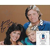 Silver Spoons cast of 3 8X10 w/ Beckett COA
