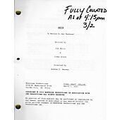 "Bette ""A Method To Her Madness"" Original Script"