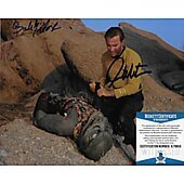 William Shatner & Bobby Clark Star Trek TOS 8X10 w/Beckett COA
