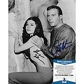 William Shatner & Sherry Jackson Star Trek TOS 8X10 w/Beckett COA