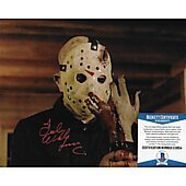 Ted White Friday the 13th 8X10 w/Beckett COA 6