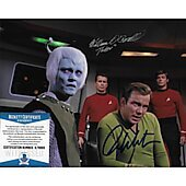 William Shatner & William O'Connell Star Trek TOS 8X10 w/Beckett COA