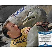 William Shatner & Bobby Clark Star Trek TOS 8X10 w/Beckett COA #2