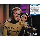 William Shatner & France Nuyen Star Trek TOS 8X10 w/Beckett COA