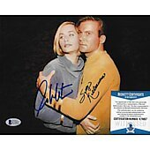 William Shatner & Sally Kellerman Star Trek TOS 8X10 w/Beckett COA