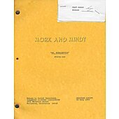 """Mork & Mindy """"Dr. Morkenstein"""" Original Script"""