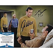 William Shatner & Sally Kellerman Star Trek TOS 8X10 w/Beckett COA #2