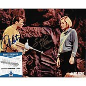 William Shatner & Sally Kellerman Star Trek TOS 8X10 w/Beckett COA #3