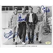 Happy Days cast of 4 w/ Ed Richard COA