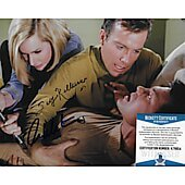 William Shatner & Sally Kellerman Star Trek TOS 8X10 w/Beckett COA #4