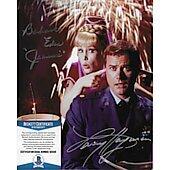 Barbara Eden & Larry Hagman I Dream of Jeannie 2 with Beckett COA