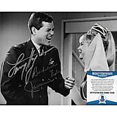 Barbara Eden & Larry Hagman I Dream of Jeannie 5 with Beckett COA
