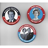 Set of 3 promo buttons + DVD Killing Reagan