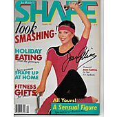 Joan Collins signed Shape magazine