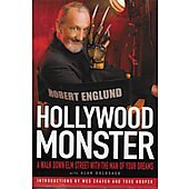 Hollywood Monster BOOK signed by author Robert Englund (signature personalized to Bill)