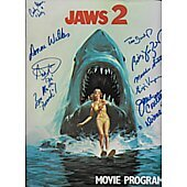 Jaws 2 movie program signed by cast of 9 **LAST ONE**