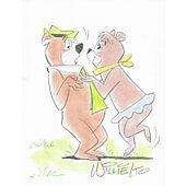 Yogi Bear original drawing signed by artist Willie Ito 4