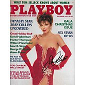 Joan Collins signed Playboy magazine